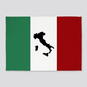 Italian Flag & Boot 5'x7'Area Rug